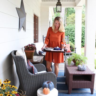 Fall Front Porch || Pumpkin Spice Inspired Fall Front Porch