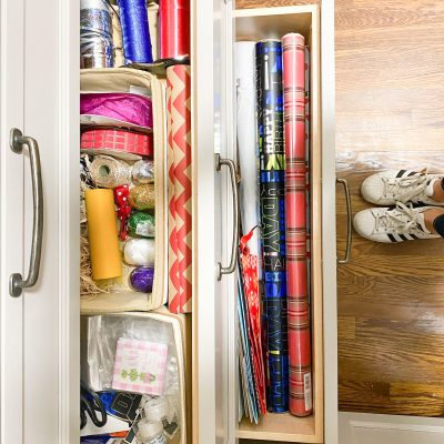 20 Minute Organizing || Wrapping Paper