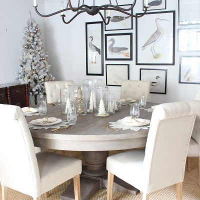 Dreaming of a White Christmas || Dining Room Tablescape