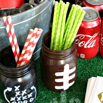 MAKE || Football Party Mason Jars