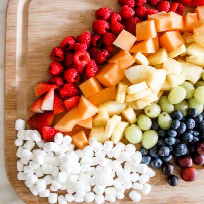 Rainbow Fruit Charcuterie Board