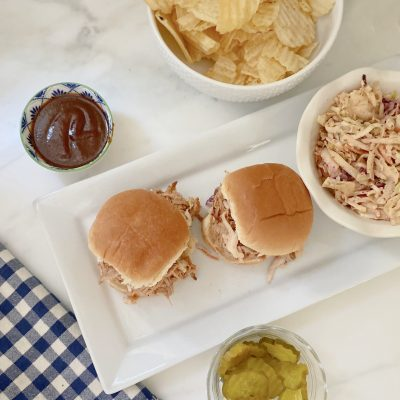 Slow Cooker Pulled Pork BBQ Sliders || Perfect for a Party Crowd