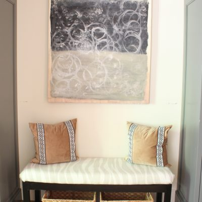How I Gave Our Mudroom a Makeover for $8