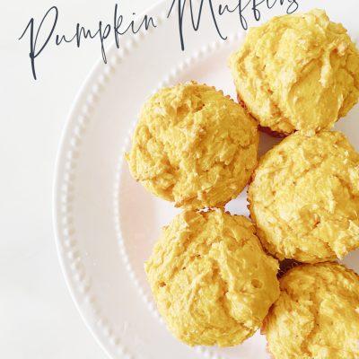 FALL NESTING || Two-Ingredient Pumpkin Muffins